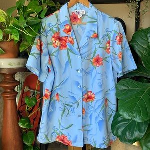 Vintage sweet Maggie Hawaiian button down